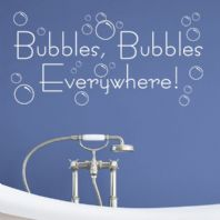 Bubbles Bubbles Everywhere ~ Wall Stickers / Decal